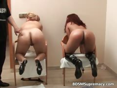 Ebony slut and white chick play in kinky part1