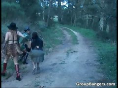 Weird but hot outdoor sex show with boys part4